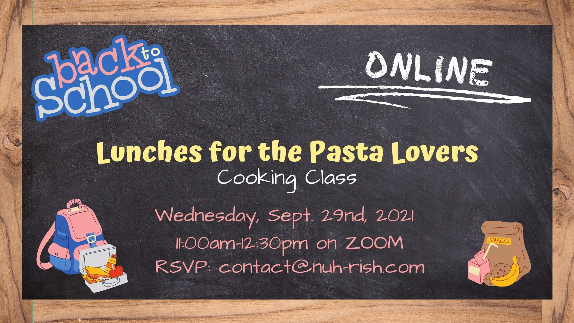 Back-2-School Pasta Lunches