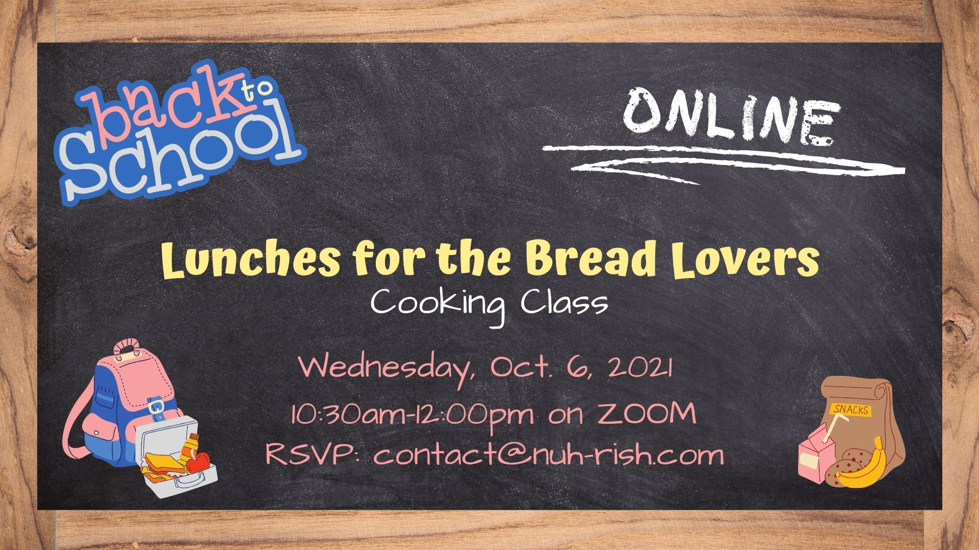 Back-2-School Bread Lunches